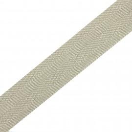 Polypropylene strap herrigone 4 cm - beige  x 1m