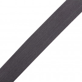 Polypropylene strap herrigone - grey/purple  x 1m
