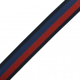 Multicolor polyester strap 4 cm - red/blue  x 1m