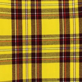 Tissu tartan écossais Andrews - jaune x 10cm