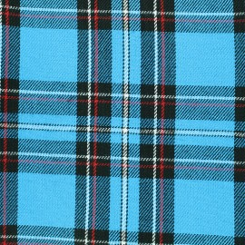 Tissu tartan écossais Andrews - turquoise x 10cm