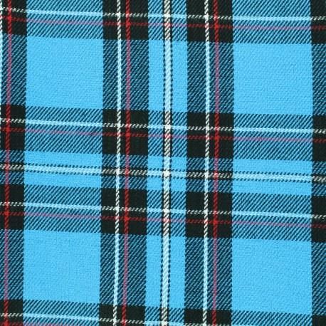 Scottish tartan fabric Andrews - turquoise x 10cm
