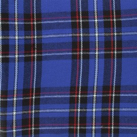 Scottish tartan fabric Andrews - navy x 10cm