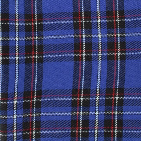 Scottish tartan fabric Andrews - navy