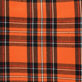 Scottish tartan fabric Andrews - orange x 10cm