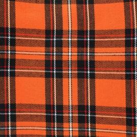 Tissu tartan écossais Andrews - orange x 10cm