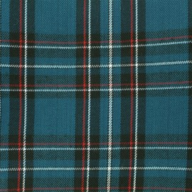 Scottish tartan fabric Andrews - petrol x 10cm