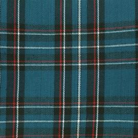 Scottish tartan fabric Andrews - petrol x 10cm