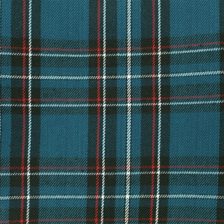 Scottish tartan fabric Andrews - petrol