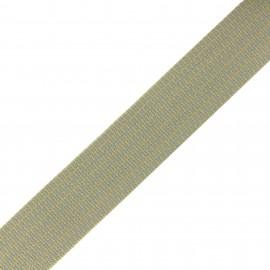 Mylène stripe - grey/beige x 1m