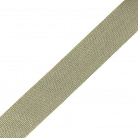 Sangle Mylène - beige/gris x 1m