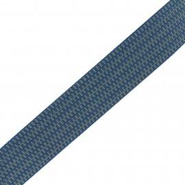 Mylène stripe - blue/beige  x 1m