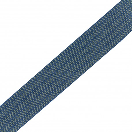 Sangle Mylène - bleu/beige x 1m