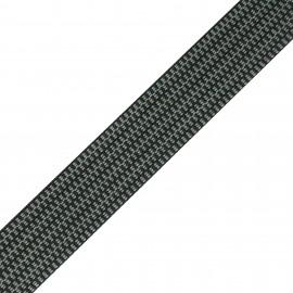 Mylène stripe - black/grey x 1m