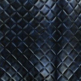 Simili cuir Mathilda - bleu nuit x 10cm