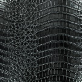 Simili cuir Croco soft - noir x 10cm