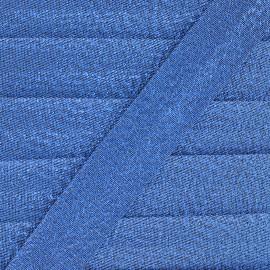 Biais lamé Soir de fête - bleu x 1m