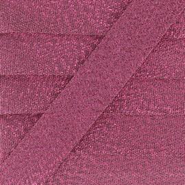 Soir de fête Bias binding - fuchsia x 1m