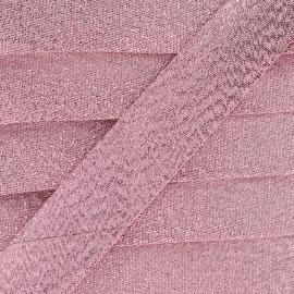 Biais lamé Soir de fête - rose x 1m