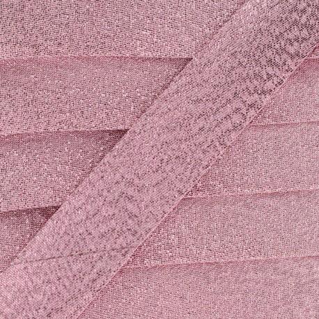 Soir de fête Bias binding - pink x 1m