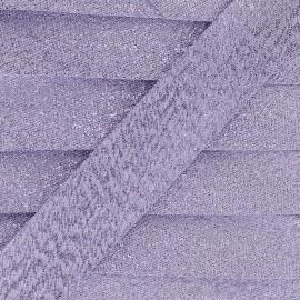 Biais lamé Soir de fête - violet clair x 1m