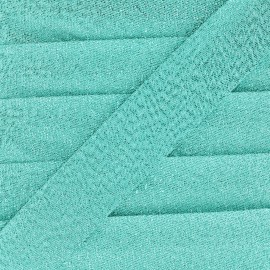 Biais lamé Soir de fête - vert d'eau x 1m