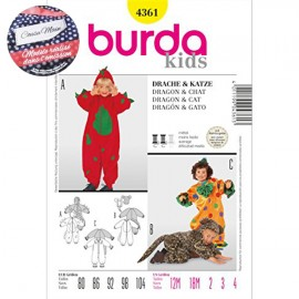 Sewing Pattern Dragon & Cat Costume Cousu Main Burda n°4361