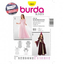 Patron Cousu Main Fée & Princesse mediévale Burda n°2463 - Saison 3
