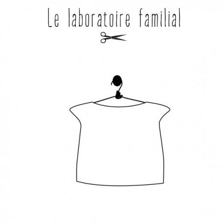 Patron Le laboratoire familial top doublé - Armance