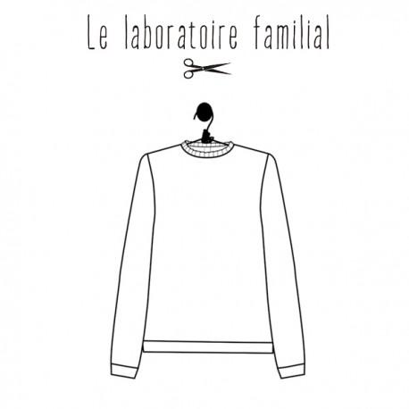 Patron Le laboratoire familial pull - Louison