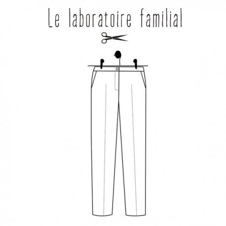 Patron Le laboratoire familial pantalon - Albertine