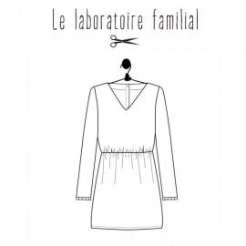 Patron Le laboratoire familial robe - Bertille