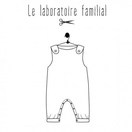 Patron Le laboratoire familial salopette - Séraphine & Gabin