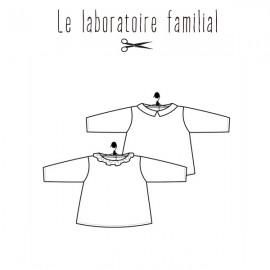 Patron bébé Le laboratoire familial blouse - Marguerite & Basile