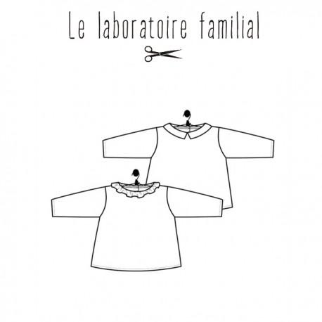 Patron Le laboratoire familial blouse - Marguerite & Basile