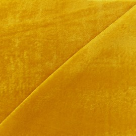 Spandex velvet fabric Gala - yellow x 10cm