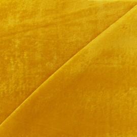 Tissu maille velours Gala - jaune x 10cm
