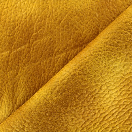 Imitation leather Cherokee - ochre x 10cm