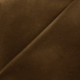 Leather upholstery fabric Tennessee - dark brown x 10cm