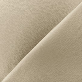 Imitation leather Karia on foam - cream x 10cm