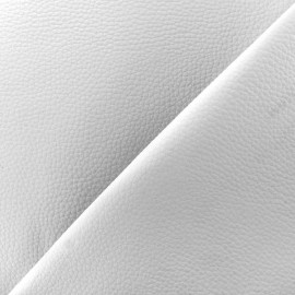 Imitation leather Karia on foam - white x 10cm