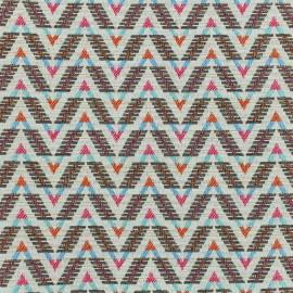 Tissu jacquard tissé Mexica - multico x 10cm