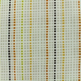 ♥ Coupon 10 cm X 160 cm ♥ Coated cotton fabric  Ibarra - ecru