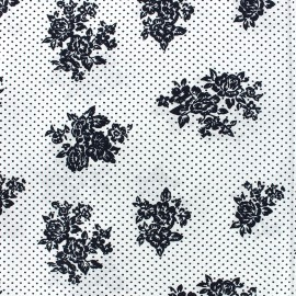 Cotton Sweet blossom fabric - white x 10cm