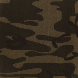 Jeans fabric Camouflage - brown x 10cm