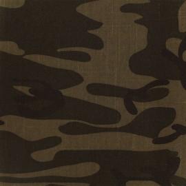 Tissu jeans Camouflage - marron x 10cm