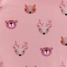 Dans la forêt Organic Oeko-Tex Jersey fabric - pink x 10cm
