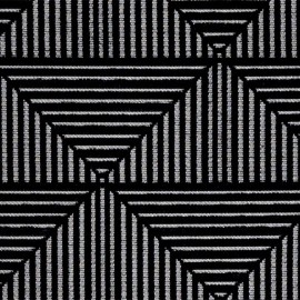 Tissu jacquard tissé Floyd - noir x 10cm
