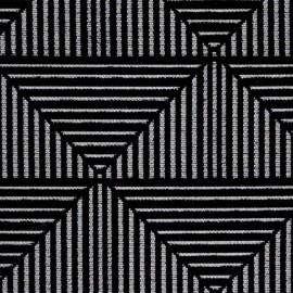 Woven jacquard canvas Floyd - black x 10cm