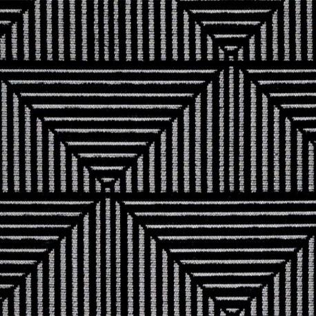 Woven jacquard canvas Floyd - black